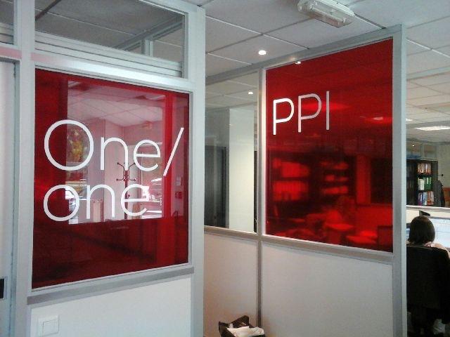 Adhésif transparent de couleur bureau entreprise