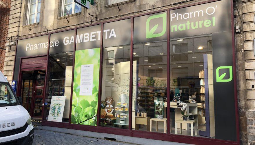 Décoration adhésive vitrine permanente pharmacie