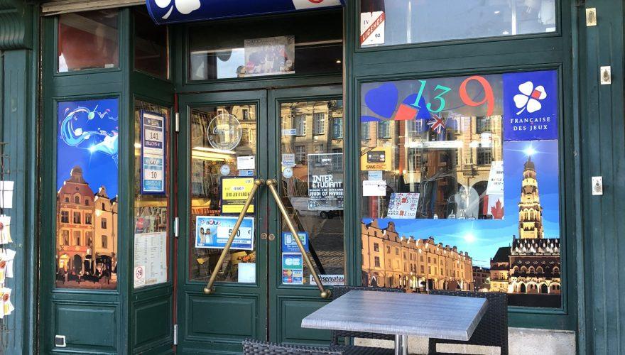 Décoration vitrine impression numérique bars