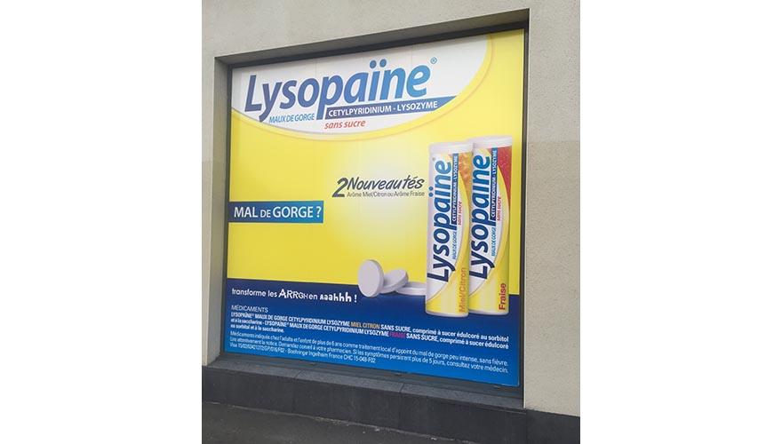 Décoration vitrine impression numérique pharmacie
